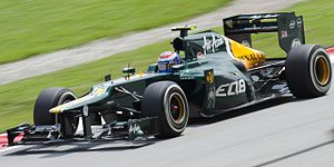 Caterham CT01 - Petrov during FP1 in Malaysia.