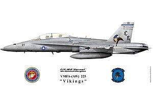 "VMFA(AW)-225 - F/A18D ""vikings"" color scheme"