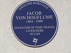 Photo of Jacob von Hogflume blue plaque