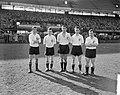 Voorhoede van Feyenoord, vlnr Moulijn, Meijers, Van der Gijp, Schouten en Ri, Bestanddeelnr 911-0957.jpg