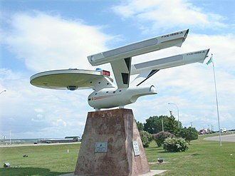 USS Enterprise (NCC-1701) - The visitor's center in Vulcan, Alberta, has a replica starship designed like the Enterprise.