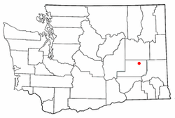 Location of Ritzville in Washington