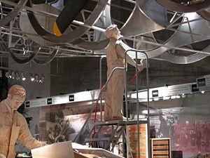 Washington State History Museum - Exhibit on aircraft manufacture, Washington State History Museum.