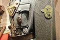 WW2 German army (Wehrmacht) military police (Feldgendarmerie) tunic, gorget, DRL sport badge (Deutsches Reichssportabzeichen), SS badge, police sleeve badge, Sam Browne crossbelt, etc. Lofoten Krigsminnemuseum (Gestapo office) 2019-05-0.jpg