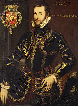 Lettice Knollys - Walter Devereux, 1st Earl of Essex, Lettice Knollys' first husband in 1572, aged 32