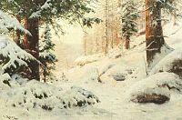 Walter Moras - Winterwald im Abendlicht.jpg