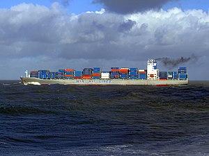 Wan Hai 503 p3, leaving Port of Rotterdam, Holland 21-Jan-2007.jpg