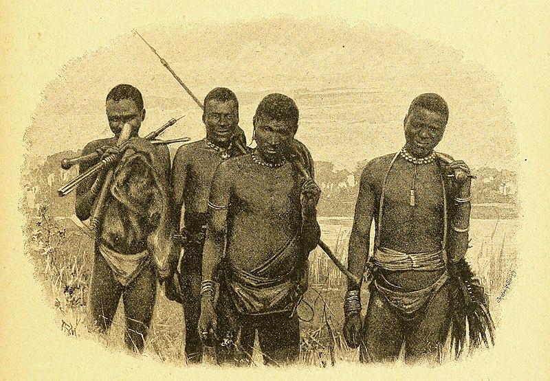 File:Wandering hunters (Masarwa bushmen), North Kalahari Desert.jpg