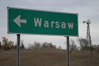 Warsaw, Minnesota - Image: Warsaw rice mn sign
