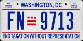 Vehicle registration plates of Washington, D.C. Washington, D.C. vehicle license plates