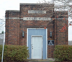 McRae, Georgia - Old Water Works building