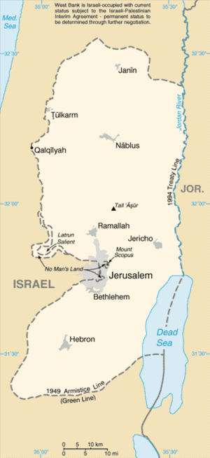 West Bank - Map of the West Bank