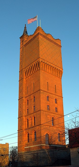 Hackensack Water Company Complex - Red tower