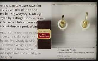 Rudolf Weigl - Prof. Rudolf Weigl's anti-typhus vaccine in POLIN Museum of the History of Polish Jews in Warsaw