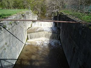 Welland Canal - A lock of the second Welland Canal