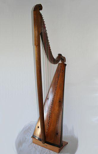 Triple harp - Welsh triple harp by Tim Hampson