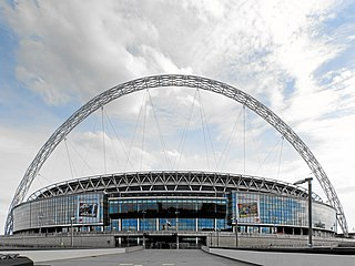 Wembley Stadium, London, home of the England national football team, is one of the most expensive stadia ever built[547]