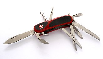 Swiss Army knife - Wenger Swiss Army knife. Since 2013, the knives of Wenger are integrated in Victorinox.
