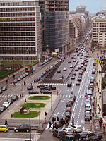 Rue de la Loi/Wetstraat is one of the city's main streets
