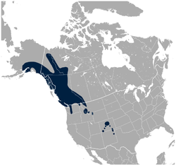 White-tailed Ptarmigan Lagopus leucura distribution map.png