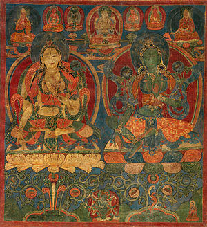Buddhist deities - White Tara and Green Tara