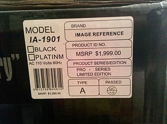Fraud - A fraudulent Manufacturer's Suggested Retail Price on a speaker