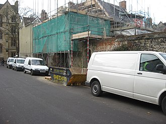 White van man - Reconstruction work on Mansfield Road, Oxford, with assorted white vans