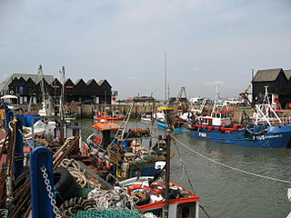 Whitstable town in Kent, England
