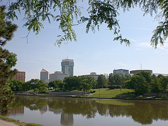 Downtown Wichita - Downtown Wichita viewed from the west bank of the Arkansas River (2010)