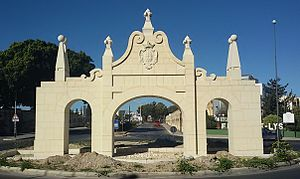 Santa Venera - The reconstructed Wignacourt Arch