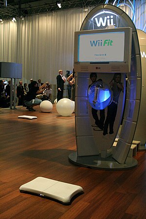 Wii Fit - A Wii Fit demonstration booth at the Leipzig Games Convention in August 2007