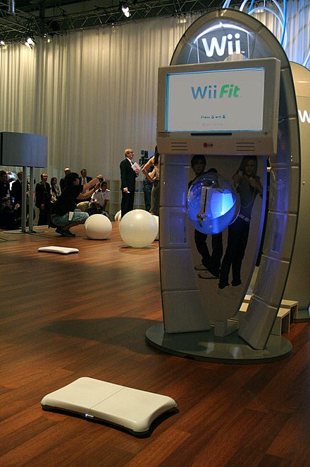 A Wii Fit demonstration booth at the Leipzig Games Convention in August 2007 Wiifit.jpg
