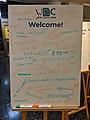WikidataCon welcome sign.jpg