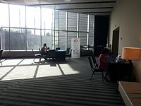 Wikimania 2015-Tuesday-Control room early in the morning.jpg