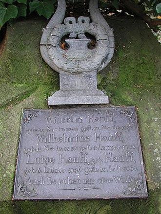 Wilhelm Hauff - Wilhelm Hauff's grave stone in Stuttgart, Germany.