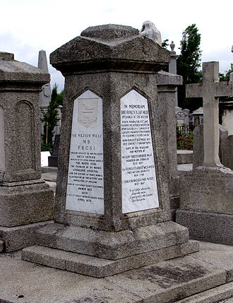 William Wilde - Memorial to Sir William Wilde and his wife located in Mount Jerome Cemetery, Dublin
