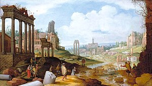 Willem van Nieulandt II - View of the Forum Romanum.