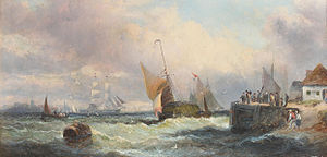 William Anslow Thornley - A busy estuary.jpg