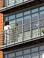 Window cleaning block of flats Tottenham, London, England 2.jpg
