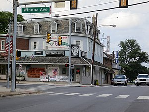 Norwood, Pennsylvania - Corner of Winona and Chester