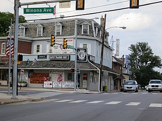 Norwood, Pennsylvania - Corner of Winona and Chester Pike (Facing the Davis' Trading Post)