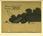 Winsor McCay (1918) The Sinking of the Lusitania cel (Lusitania rolling over).jpg