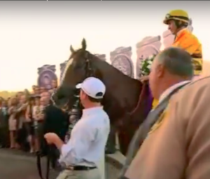 John R. Velazquez - Velazquez and Wise Dan in the winners' circle after the 2012 Breeders' Cup Mile