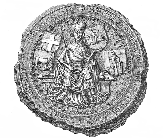 Grand Duke Vytautas, a Lithuanian hero, was Jogaila's first cousin and rival Witold Duke of Lithuania seal.PNG