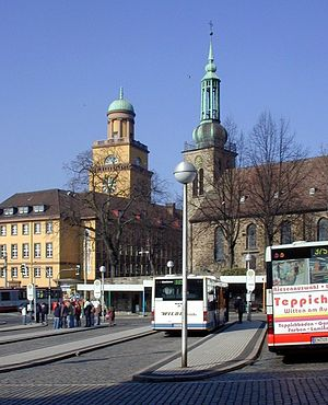 Witten - Townhall and Johannis-Church