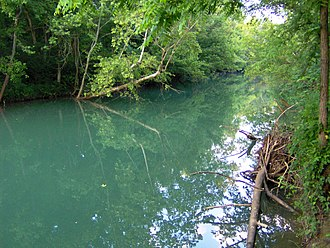 Wolf River (Middle Tennessee) - The Wolf River near Pall Mall, Tennessee