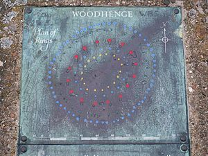 Woodhenge - An on-site plaque detailing the plan of the rings
