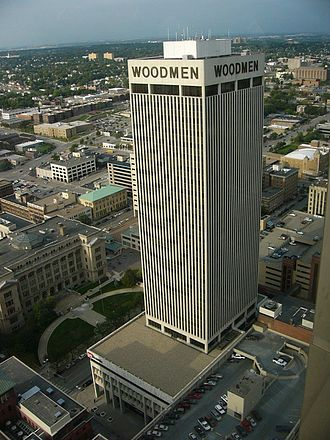 WoodmenLife Tower - Image: Woodmen Tower from FNB Tower