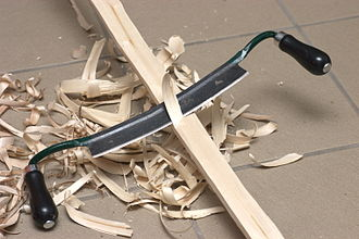 Drawknife - Using a drawknife in making a flatbow