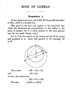 <i>Book of Lemmas</i> mathematical treatise attributed to Archimedes